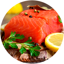 Photo Calkins & Burke - Fresh and frozen seafood supplier (wild and farmed salmon, tuna, halibut, prawns, oysters, crab, scallops)