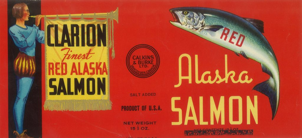 Image - Calkins & Burke 1930's Canned Salmon Label